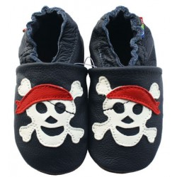 Chaussons en cuir pirate